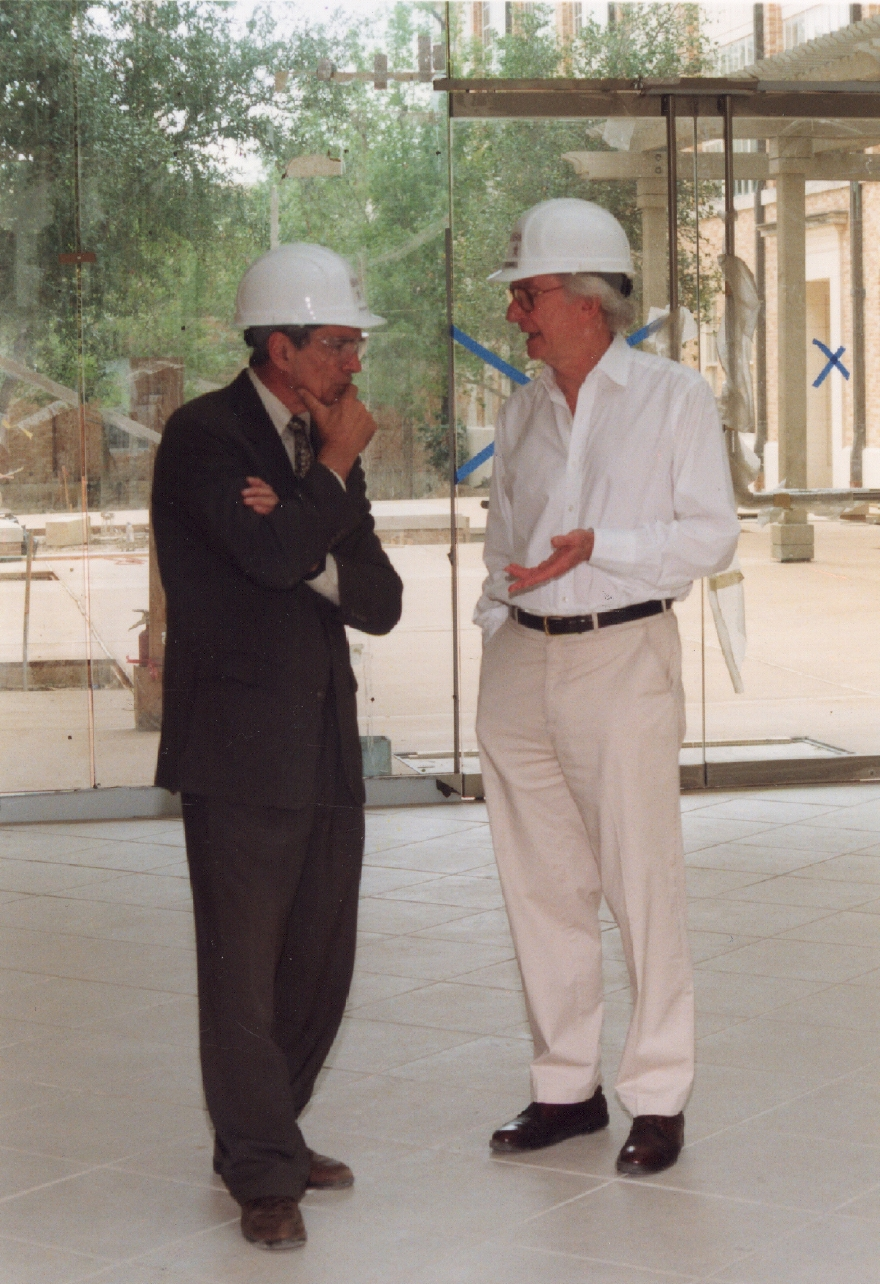 Oden and O'Donnell during ICES construction