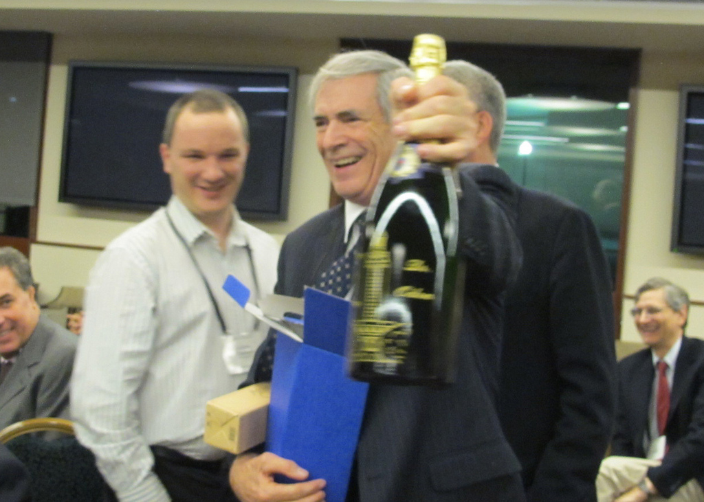 A French bottle of wine was given to J. Tinsley Oden